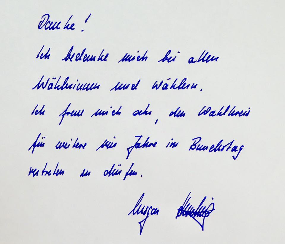 MdB Ansgar Heveling sagt Danke