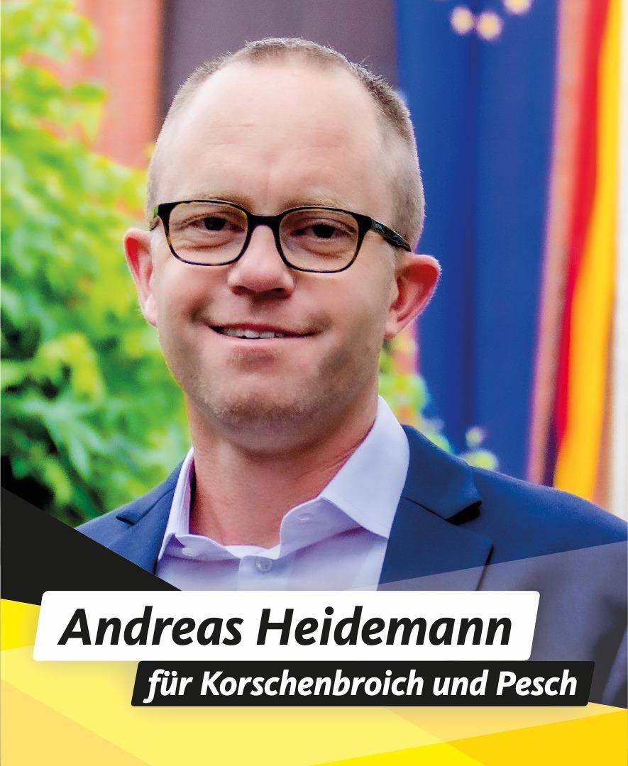 Für Sie im Stadtrat Andreas Heidemann
