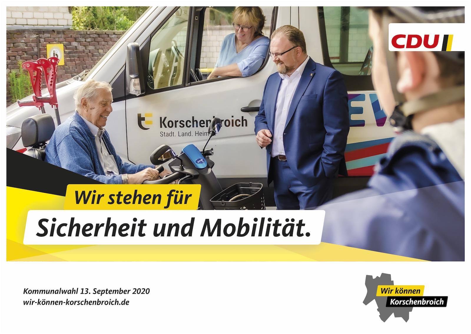 Wir setzen uns ein Sicherheit und Mobilität