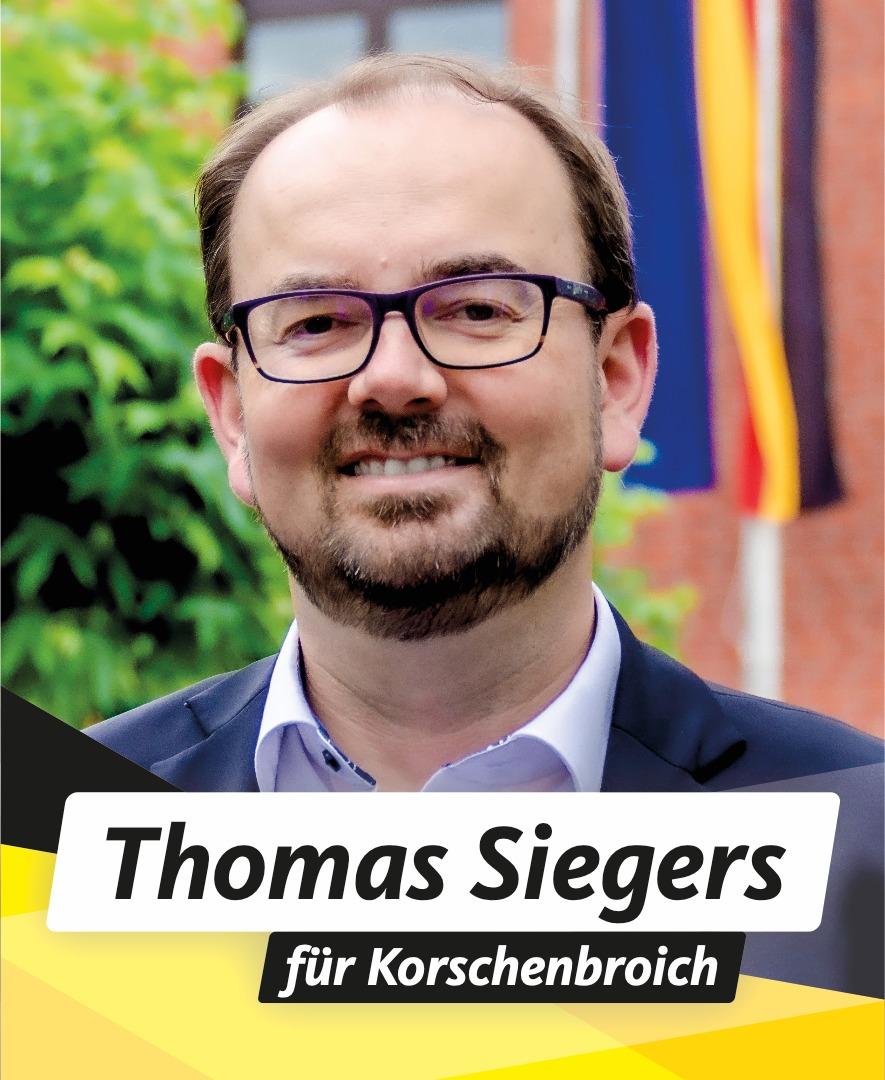 Für Sie im Stadtrat Thomas Siegers