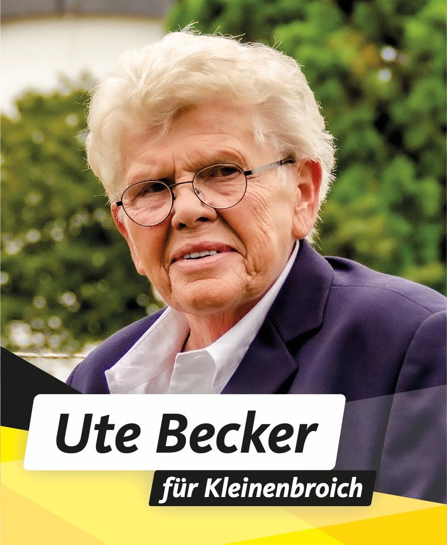 Für Sie im Stadtrat Ute Becker