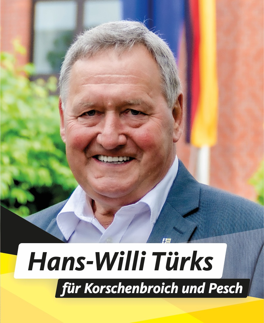 Für Sie im Stadtrat Hans-Willi Türks